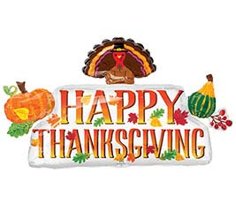 "39""PKG HAPPY THANKSGIVING BANNER"
