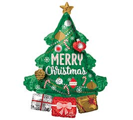 "34""PKG CHRISTMAS TREE GARLAND MULTIBALLO"