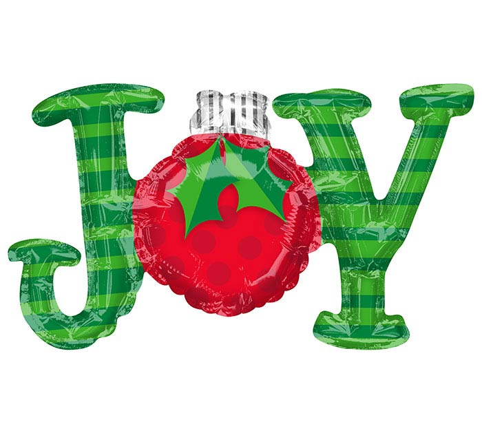 "14""INFLATED JOY ORNAMENT MINI SHAPE"