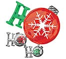 "35""PKG HO HO HO ORNAMENT SHAPE"