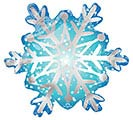 "11""INFLATED SATIN SNOWFLAKE MINI SHAPE"