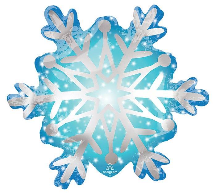 "11""INFLATED SATIN SNOWFLAKE MINI SHAPE"