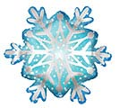 "27""PKG SATIN SNOWFLAKE SHAPE"
