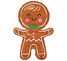 "31""PKG HAPPY GINGERBREAD MAN"