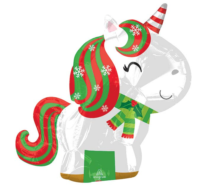 "21"" CHRISTMAS UNICORN JUNIOR SHAPE"