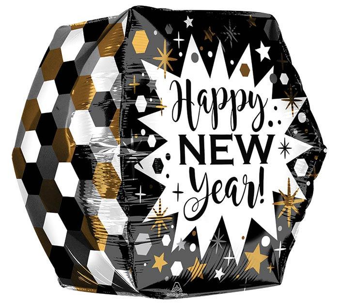 "16""PKG GEOMETRIC NEW YEAR ANGLEZ ULTRASH"
