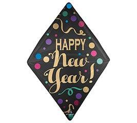 "25""PKG NEW YEARS SATIN DOTS ANGLEZ ULTRA"