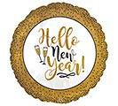 "18"" GOLD GLITTER NEW YEAR"