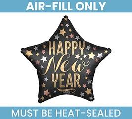 "9""FLAT SATIN NEW YEAR STAR"