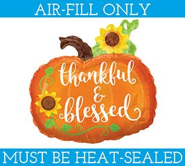 "14""FLAT THANKFUL  BLESSED PUMPKIN"