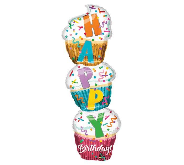 "41""PKG HAPPY BIRTHDAY CUPCAKE BALLOON"