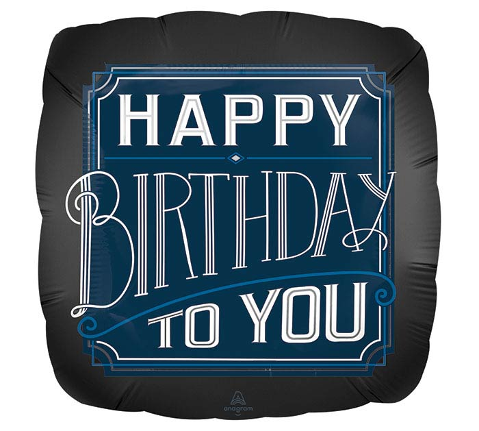 "18""PKG BIRTHDAY SATIN LUXE BALLOON"