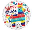 "17"" PKG HAPPY BIRTHDAY PINATA BALLOON"
