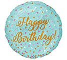 "18""PKG BIRTHDAY HOLOGRAPHIC BALLOON"