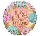 "18""PKG BIRTHDAY STAY FABULOUS BALLOON"