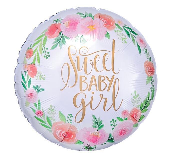 """18""""PKG FLORAL BABY GIRL"""