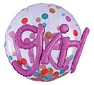 "36""PKG IT'S A GIRL CONFETTI DOTS"