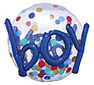"36""PKG IT'S A BOY CONFETTI DOTS SEE THRU"