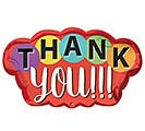 "30""PKG THANK YOU DOTS BALLOON"