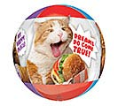 "16""PKG CLEAR ORBZ AVANTI CATS BALLOON 3rd Alternate Image"