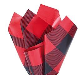20X20 FLIP SHEET BUFFALO PLAID RED BLACK