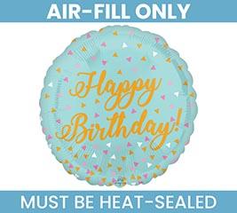 "9""FLAT BIRTHDAY BALLOON AIR FILL ONLY"