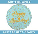 "9""FLAT BIRTHDAY BALLOON AIR FILL ONLY"