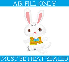 "14""FLAT EASTER BUNNY WITH VEST"