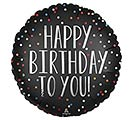 "18""PKG HAPPY BIRTHDAY TO YOU SATIN DOTS"