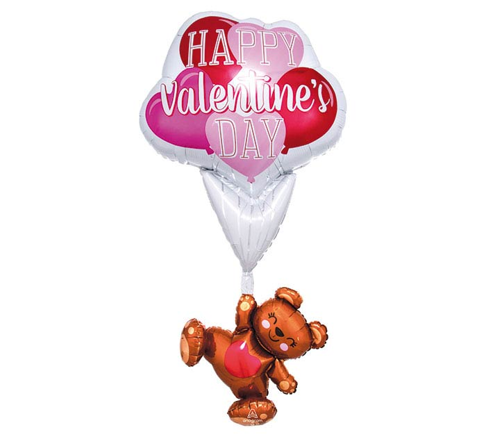 "56""PKG VALENTINE FLOATING BEAR MULTI-BAL"