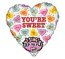"29"" VALENTINE SING A TUNE SWEET CANDY"