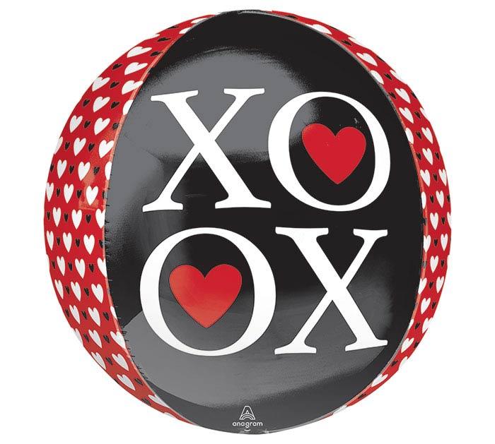 "16""PKG ORBZ XOXO HEARTS"