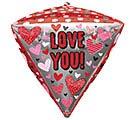 "17""PKG DIAMONDZ HUGS, KISSES,  HEARTS 1st Alternate Image"