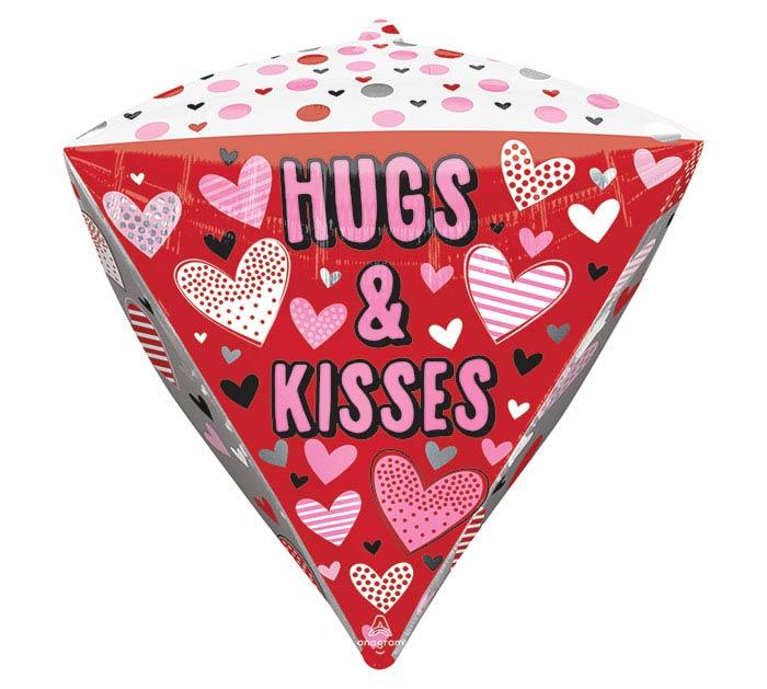 "17""PKG DIAMONDZ HUGS, KISSES,  HEARTS"