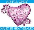 "14"" FLAT SATIN VALENTINE HEART W/ SWIRLS"
