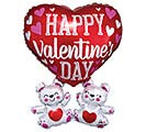 "26""PKG VALENTINE FLOATING BEARS SHAPE"