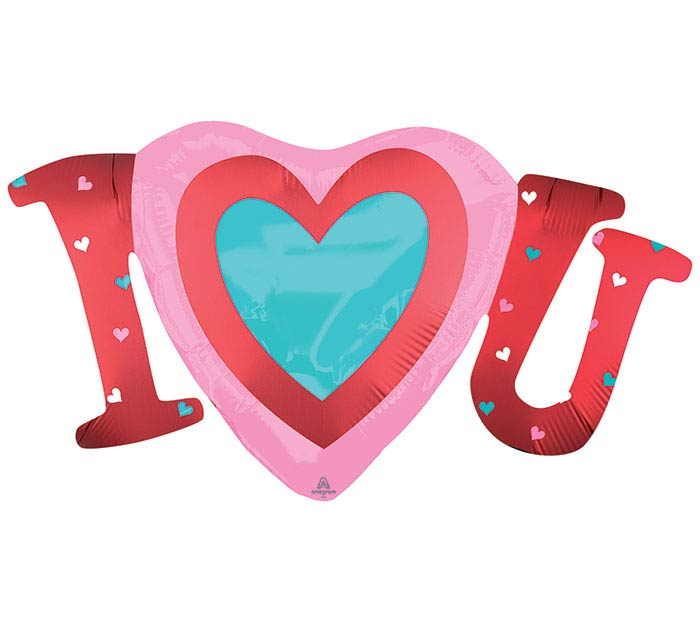 "14""INFLATED SATIN INFUSED I HEART YOU"
