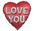 "28""PKG SATIN LOVE YOU JUMBO HEART"