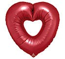 "26""PKG SANGRIA OPEN HEART SHAPE"