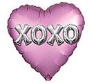 "18"" SATIN XOXO BALLOON LETTERS"