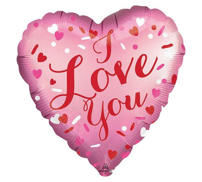 """18"""" SATIN LOVE YOU HEART"""