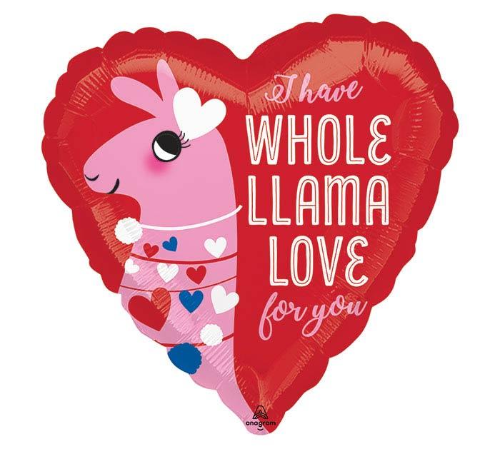 "17"" LLAMA LOVE HEART"