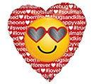 "17"" HASHTAG LOVE EMOTICON HEART"
