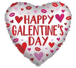 """18"""" SATIN GALENTINE'S DAY HEART"""