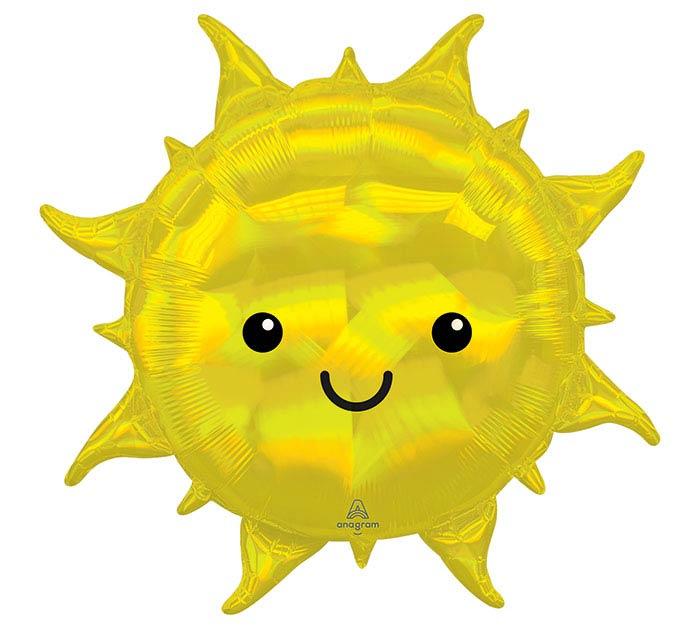 """27""""PKG IRIDESCENT SUN SHAPE"""
