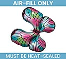 "14""FLAT IRIDESCENT PINK  TEAL BUTTERFLY"