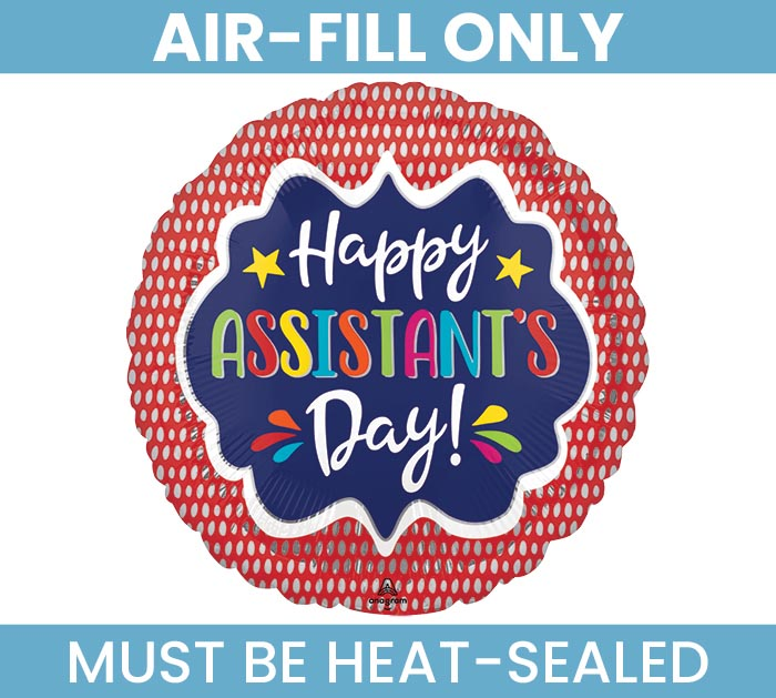 """9""""FLAT ASSISTANT'S DAY RED"""