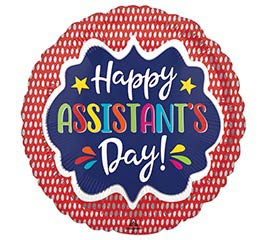 """9""""INFLATED ASSISTANT'S DAY RED"""