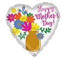 "17"" MOTHER'S DAY GOLD VASE HEART"