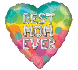 """17"""" BEST MOM EVER BALLOON LETTERS"""